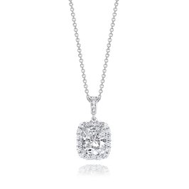 Radiant Cut 3.5 Carat, 14K Fancy Pendant