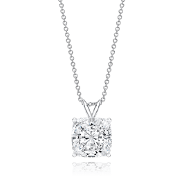 Cushion Cut 4.5 Carat, 14K Classic Pendant