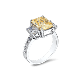 Radiant Cut 3.0 Ct.14K Ring