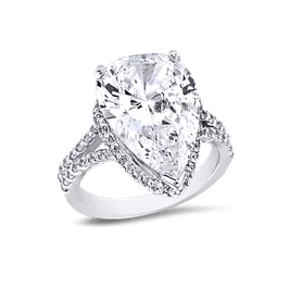 Pear Shape 10.0 Ct. 14K Ring