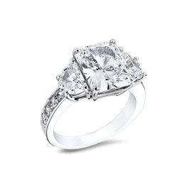 Radiant Cut 3.5 Ct. 14K Ring