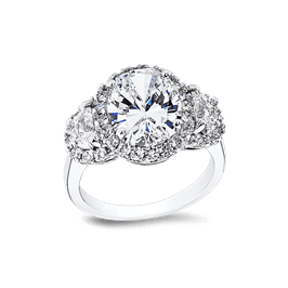 Oval 3.5 Ct. 14K Ring