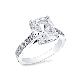 Oval Cushion 3.5 Ct. 14K Ring