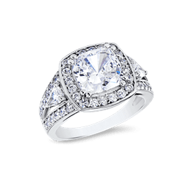 Cushion Cut 3.0 Ct. 14K Ring