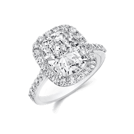 Oval Cushion 4.0 Ct. 14K Ring