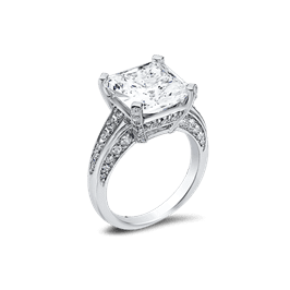 Princess Cut 8.0 Ct. 14K Ring