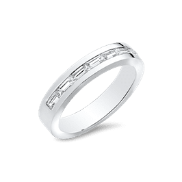 Baguette 1.05 CTW, 14K Men's Wedding Band