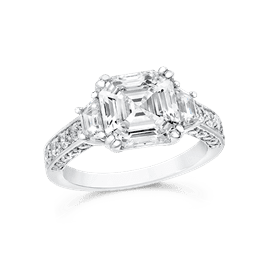 Asscher Cut 3.50 Ct. 14K Ring