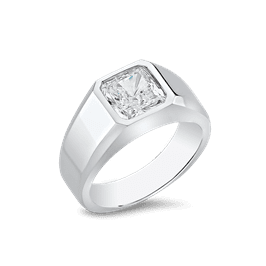 Radiant Square 3.0 Carat, 14K Men's Ring