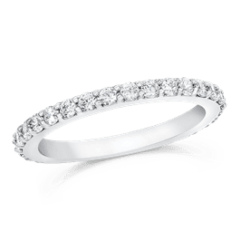 Round 0.70 Carat, 14K Wedding Band