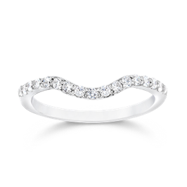 Round 0.35 Carat, 14K Wedding Band