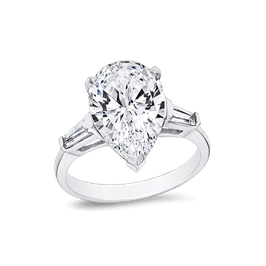 Pear Shape 4.0 Ct. 14K Ring