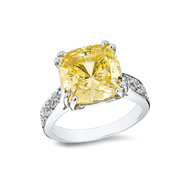 Cushion Cut 7.0 Ct. 14K Ring