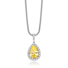 Pear Shape 5.0 Carat, 14K Fancy Pendant