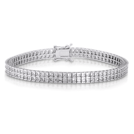 Princess Cut 6.32 Carat, 14K Bracelet