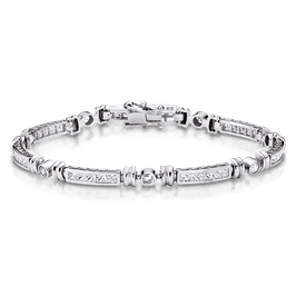 Princess Cut 2.81 Carat, 14K Bracelet