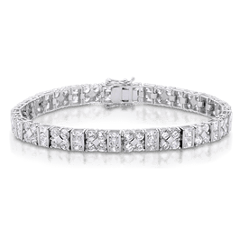 Princess Cut 12.50 Carat, 14K Bracelet