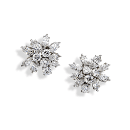 Round and Marquise 12.20 Carat, 14K Dressy Earrings
