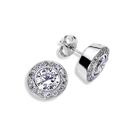 Round 1.0 Carat, 14K Stud Earrings