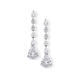 Pear Shape 15.0 Carat, 14K Dressy Earrings