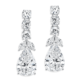 Pear Shape 10.0 Carat, 14K Dressy Earrings