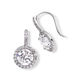 Round 5.0 Carat, 14K Dressy Earrings