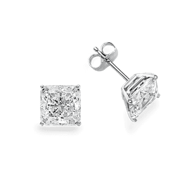 Princess Cut 1.0 CTW, 14K Stud Earrings