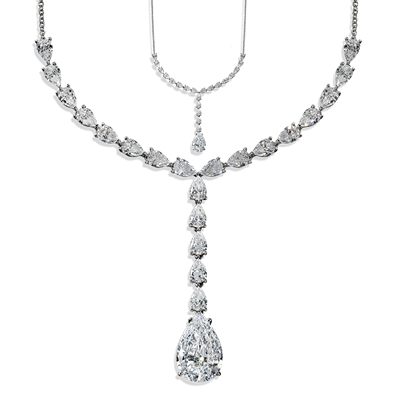 Pear Shape 18.50 Carat, 14K Necklace