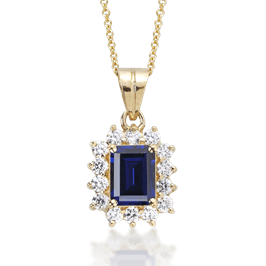 Emerald Cut 1.25 Carat, 14K Fancy Pendant