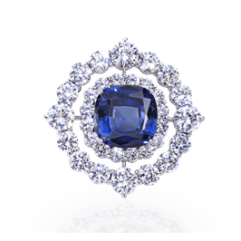 Cushion Cut 12.0 Carat, 14K Brooch