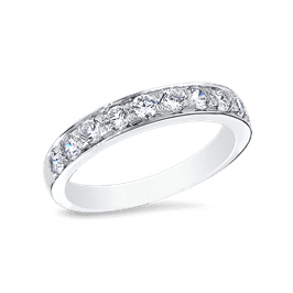 Round 0.40 Carat, 14K Wedding Band