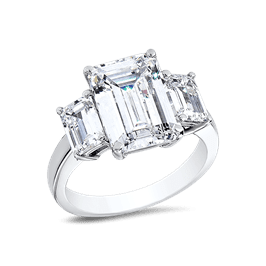 Emerald Cut 4.5 Ct. 14K Ring