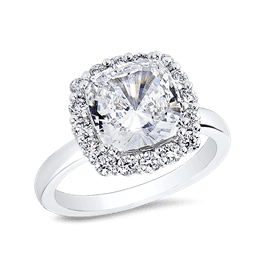 Cushion Cut 3.5 Ct. 14K Ring