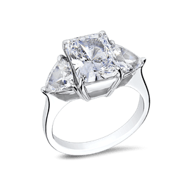 Radiant Cut 2.5 Ct. 14K Ring