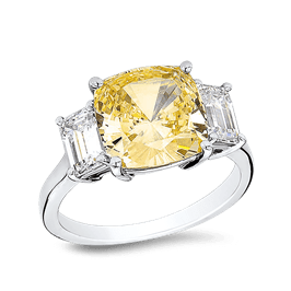 Cushion Cut 4.5 Ct. 14K Ring