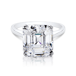 Asscher Cut 9.0 Ct. 14K Ring
