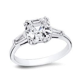 Asscher Cut 2.0 Ct. 14K Ring