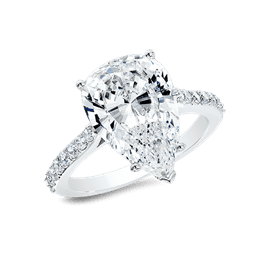 Pear Shape 5.0 Ct. 14K Ring