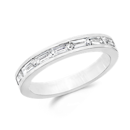 Baguette 1.05 Carat, 14K Wedding Band
