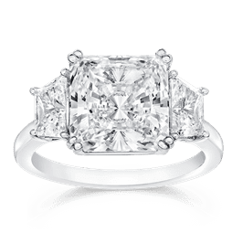 Radiant Square 4.0 Ct. 14K Ring