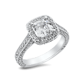 Asscher Cut 1.50 Ct. 14K Ring