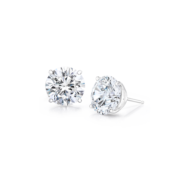 Round 1 0 Ctw 14k Stud Earrings