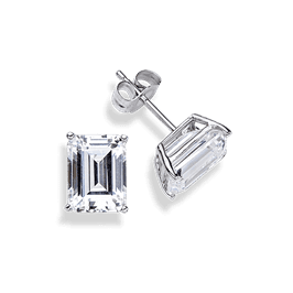 Emerald Cut 1.5 Carat, 14K Stud Earrings