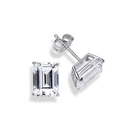 Emerald Cut 1.0 Carat, 14K Stud Earrings
