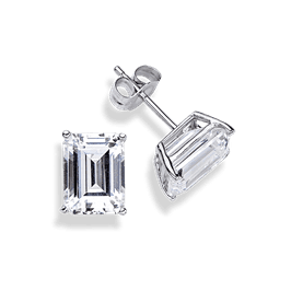 Emerald Cut 2.0 Carat, 14K Stud Earrings