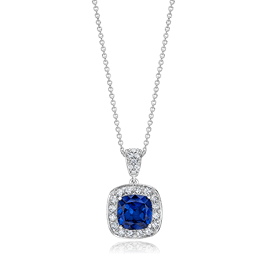 Cushion Cut 3.5 Carat, 14K Fancy Pendant