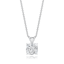 Cushion Cut 2.5 Carat, 14K Classic Pendant