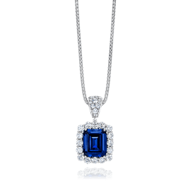 Emerald Cut 9.0 Carat, 14K Fancy Pendant