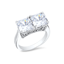 Princess Cut 5.0 Ct. 14K Ring
