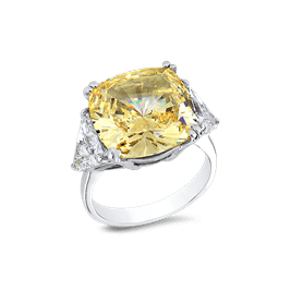 Cushion Cut 12.0 Ct. 14K Ring